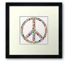 Peace Symbol with Polka Dots Illustration Framed Print
