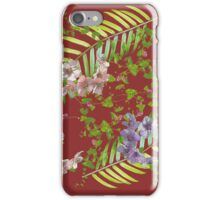 Leaves and fronds iPhone Case/Skin