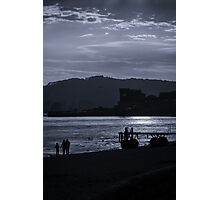 Late Stroll Along The Shore Photographic Print