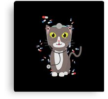 Cat with medical equipment   Canvas Print