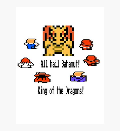 Bahamut, King of the Dragons Photographic Print