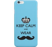 Funny Keep Calm and Wear Mustaches iPhone Case/Skin
