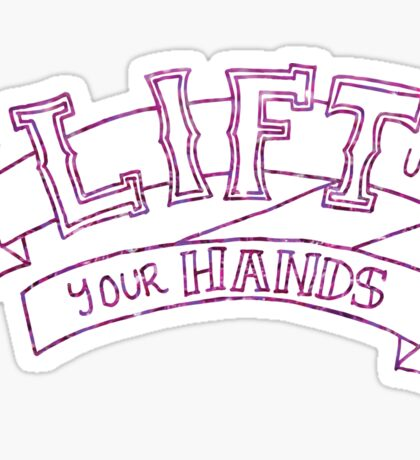lift up your hands (hedwig) Sticker
