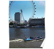 London Eye from the Thames Poster