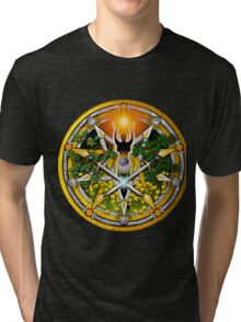 Sabbat Pentacle for Litha, the Summer Solstice Tri-blend T-Shirt