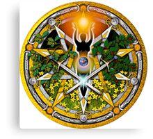 Sabbat Pentacle for Litha, the Summer Solstice Canvas Print