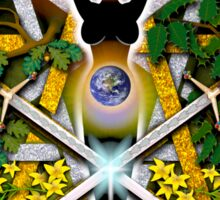 Sabbat Pentacle for Litha, the Summer Solstice Sticker