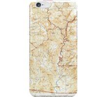 USGS TOPO Map Arizona AZ Turret Peak 315415 1933 125000 iPhone Case/Skin