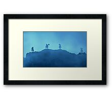 White Walkers and the Night King Framed Print