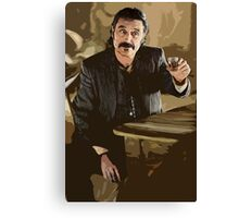 Deadwood's Al Swearengen Digital Art Canvas Print