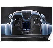 Liquid Metal - Porsche 918 Spyder Poster