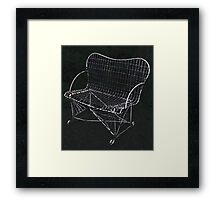 The Wire Chair Framed Print
