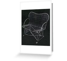 The Wire Chair Greeting Card