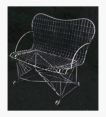 The Wire Chair Photographic Print