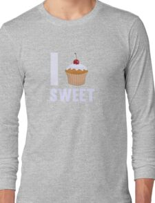 Girly I love Sweet Muffin Cup Cake Long Sleeve T-Shirt