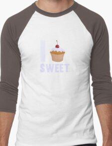 Girly I love Sweet Muffin Cup Cake Men's Baseball ¾ T-Shirt