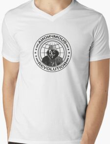Anonymous Revolution Mens V-Neck T-Shirt
