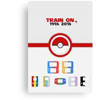 Train On - Pokemon Canvas Print