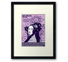 Illustrating Great Minds - Ada Lovelace Framed Print