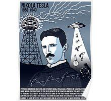 Illustrating Great Minds - Nikola Tesla Poster