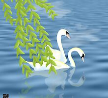 Swans by amgraphics