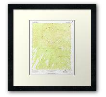 USGS TOPO Map Arizona AZ Willow Mtn 314130 1967 24000 Framed Print
