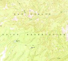 USGS TOPO Map Arizona AZ Willow Mtn 314130 1967 24000 Sticker