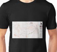 USGS TOPO Map Arizona AZ Parker 315279 1985 100000 Unisex T-Shirt