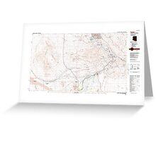 USGS TOPO Map Arizona AZ Parker 315279 1985 100000 Greeting Card