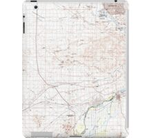USGS TOPO Map Arizona AZ Parker 315279 1985 100000 iPad Case/Skin