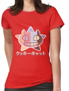 Steven Universe inspired Cookie Cat (rainbow + star vers. number 2) Womens Fitted T-Shirt