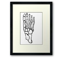 skeleton foot Framed Print