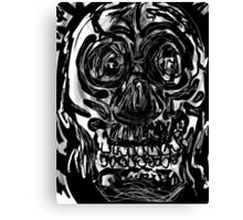 Skull drawing -(151215)- iPad/Zen brush App. Canvas Print