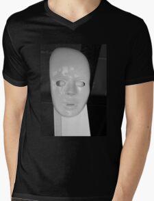 White face by Darryl Kravitz Mens V-Neck T-Shirt
