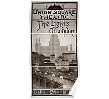 Performing Arts Posters The lights o London every evening and Saturday matinee 0978 Poster