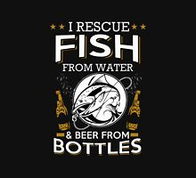 FISH FROM WATER AND BEER FROM BOTTLES Unisex T-Shirt