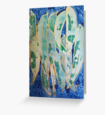 Green and Gold Abstract Greeting Card