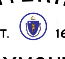 Entering Plymouth - Commonwealth of Massachusetts Road Sign Sticker