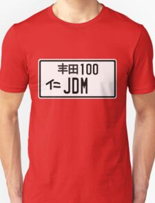 License Plate - JDM  T-Shirt