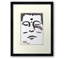 Watercolor mindfulness Framed Print