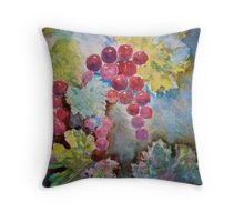 Wine Grapes in the Vineyard Throw Pillow