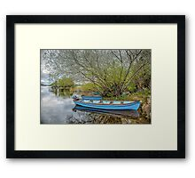 Blue Boats at Lough Leane Framed Print