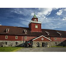 Red Farm in Norway - Travel Photography Photographic Print