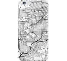 San Francisco Map, USA - Black and White iPhone Case/Skin