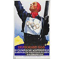 Vintage 1936 Berlin Summer Olympics Poster Photographic Print