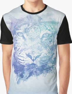 Abstract Watercolor Tiger Portrait / Face Graphic T-Shirt