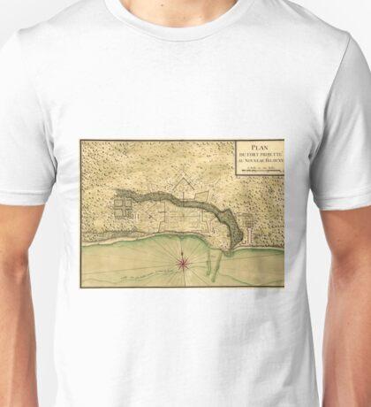 Map Of Biloxi 1721 Unisex T-Shirt
