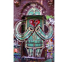 Robot with heart Photographic Print