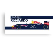 2014 Formula 1 RedBull Daniel Ricciardo Race Car Canvas Print