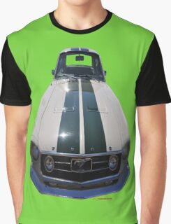 Ford Mustang (white/green) Graphic T-Shirt